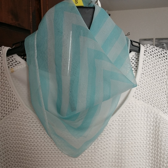 Ann Taylor Accessories - Silk Sheer Square Scarf VTG made in JP